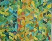 Impromptu Hand Dyed Patchwork Art Quilt