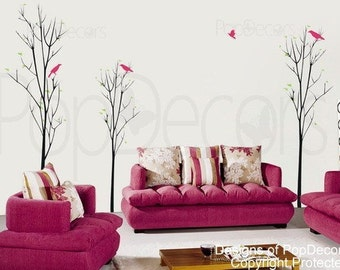 """Young Trees (71""""H) - Decals Stickers Murals Vinyl Wall Art Home Decors by PopDecors"""