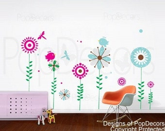 Sunflower Decal - Home Decors Murals by PopDecors