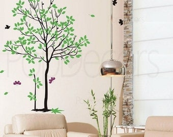 Spring Tree - (71 inch H) - Wall  Decals Stickers Home Decor by Pop Decors