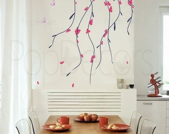 Beautiful Flowers - 31.5inch H- Wall  Decals Stickers Home Decor by Pop Decors