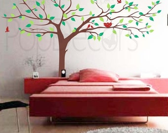 Super Big Tree Four Colors-133inch W- Nursery Wall  Decals Stickers Home Decor by Pop Decors