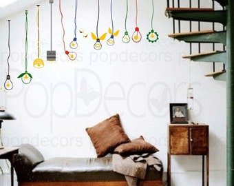 Lovely Light Bulbs - Playroom and Nursery Wall  Decals Stickers Home Decor by Pop Decors