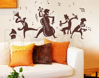 Life is Music- Living Room Wall Decor- Decals Stickers Wall Art Murals  by Pop Decors