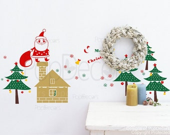 Christmas Decal -Santa is coming- Holiday Must Have Vinyl Wall  Decals, Stickers, Home Decor