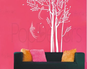 """Phoenix in the Forest- 102"""" H- Modern Wall Decals Art Stickers Home Decor by Pop Decors"""