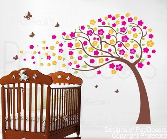 custom for  Robyn Klauer - Flower Tree(71inch H) -Designed by Pop Decors