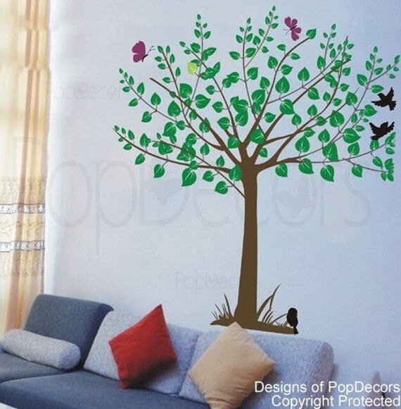 My little Tree - (65 inch H) - Wall  Decals Stickers Home Decor by Pop Decors
