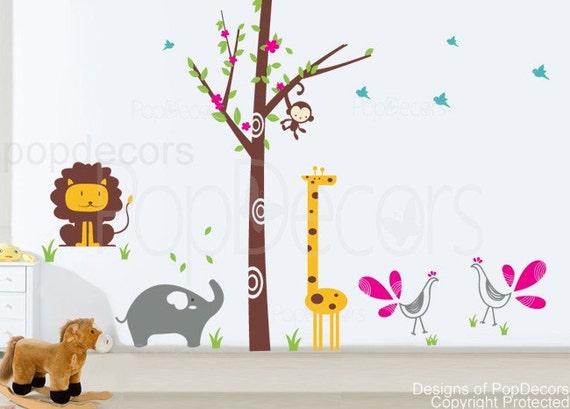 New design fantasy woodland 102 inch h vinyl sticker wall for Stickers decorativos de pared