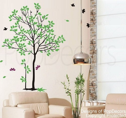 Spring Tree Wall Decor : Spring tree inch h wall decals stickers home decor