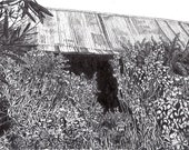 Farmhouse Original Drawing