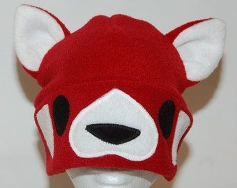 Red Panda Fleece Hat