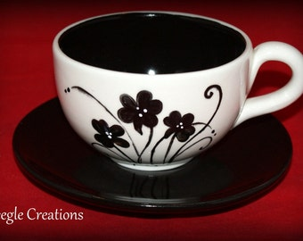 Personalized Latte Cup & Saucer