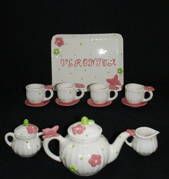14 piece Butterfly Tea set