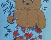 Vintage 80's Party Bear muscle t shirt L