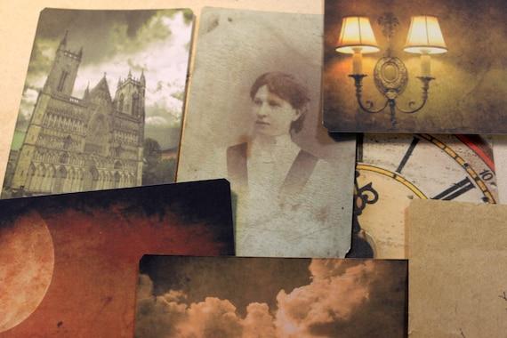 Sale  - Vintage inspired postcard set, Gaslight - Set of 8 different postcards