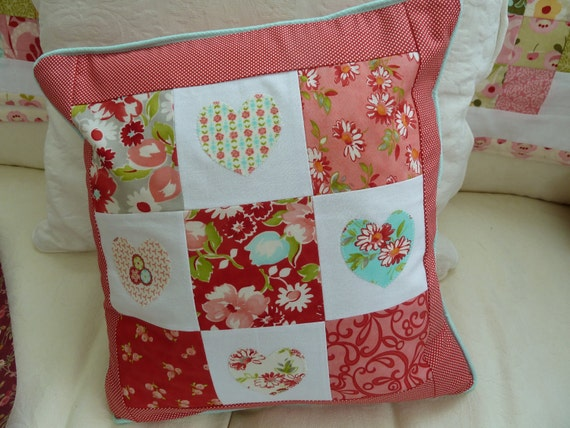 Floral and Appliqued Cushion
