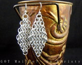 Classic Chainmaille Diamond Earrings