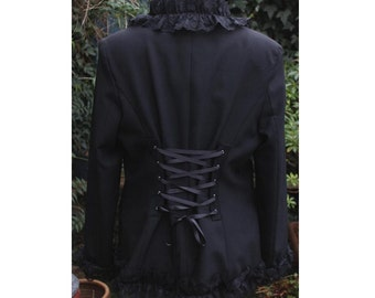 Victorian corset jacket  Revamped. Upcycled. Steampunk. Gothic Lolita