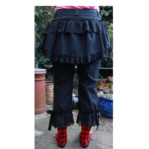Steampunk trousers Pirate Pants - Bustle breeches, pantaloons, bloomers Revamped