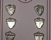 pewter acorn buttons