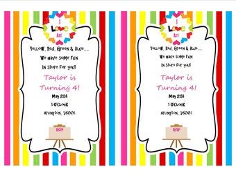 Picasso Art Party Invitation