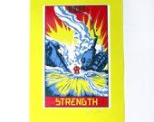 "Robo Tarot: Major Arcana v4 ""Strength"" print"