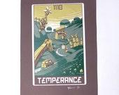 "Robo Tarot: Major Arcana v4 ""Temperance"" print"
