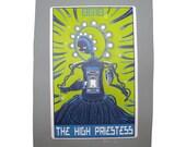 "Robo Tarot: Major Arcana v2 ""The High Priestess"" print"