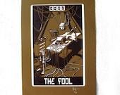 "Robo Tarot: Major Arcana v6 ""The Fool version 1"" print"