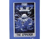 """Robo Tarot: Major Arcana v7 """"The Emperor"""" print"""