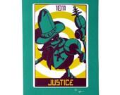 """Robo Tarot: Major Arcana v7 """"Justice"""" print"""