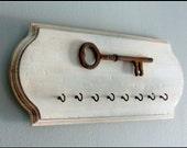 Rustic Key Holder , Wall Hook, Rusted Wall decor,