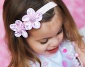 Flower Bow, Flower Headband, Pink Flower Headband, Baby Bow, Baby Headband, Infant Bow, Infant Headband, Girls Bow, Girls Headband