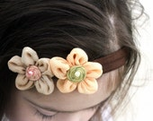 SALE, Flower Bow, Flower Headaband, Infant Bow, Infant Headband, Baby Bow, Baby Headband, Girls Bow, Girls Headband, Newborn Bow, Headband