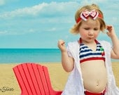 Crab Bow, Crab Headband, Baby Bow, Baby Headband, Infant Bow, Infant Headband, Girls Bow, Girls Headband, Boutique Bow