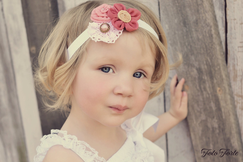 Items similar to Baby Headband, Flower Headband, Flower ...