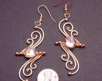 Bronze & Crystal Earrings (dsn-2)