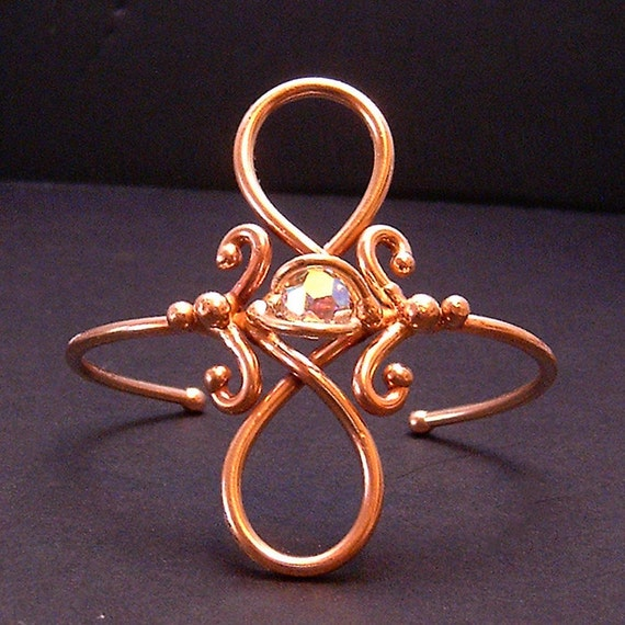 Bronze and Crystal Bracelet dsn-1