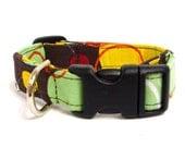 "Colorful Planet Adjustable Dog Collar - 5/8"" - Small/Medium"