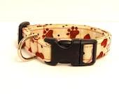 "Hearts, Paws & Bones Adjustable Dog Collar - 5/8"" XS/Small"