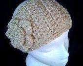Cream Crochet Headband - adult