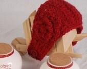 Valentine Red Crochet headband - adult / teen