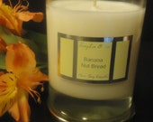 Banana Nut Bread Pure SOY Candle. Oven-fresh Banana Bread. Perfect for Holidays.