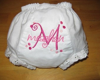 Monogrammed Bloomer Diaper Cover Personalized Bloomer Diaper Cover Baby Shower Gift