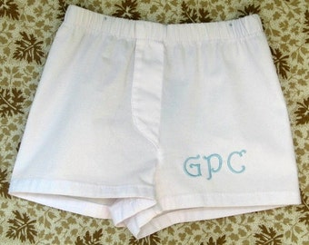 Monogrammed Baby  Boys Boxer Diaper Cover Personalized  Baby Boys Diaper Covers