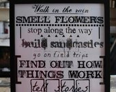 Print - Walk in the rain Smell Flowers - 11x14 poster