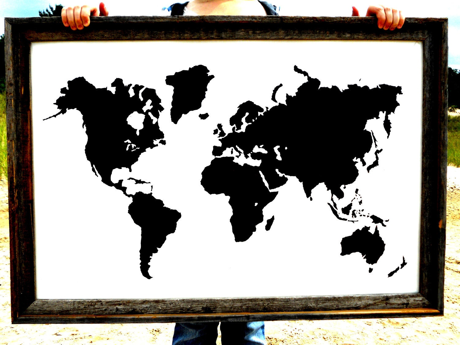 Giant Modern World Map Print Poster 24x36 by IScreenYouScreen