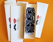 Photobooth  Photo-Strip Party Favor Protector Lips and Mustache design
