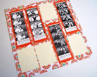 Photobooth Scrap Book Wedding Guest Book Summer Theme
